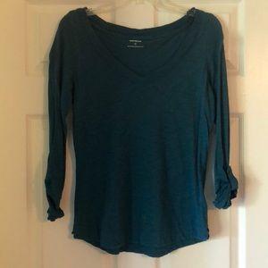 Express v-neck long sleeve shirt